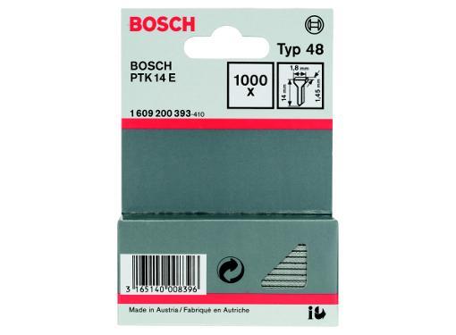 Гвозди для степлера BOSCH 14 мм 1000 шт. (1609200393)