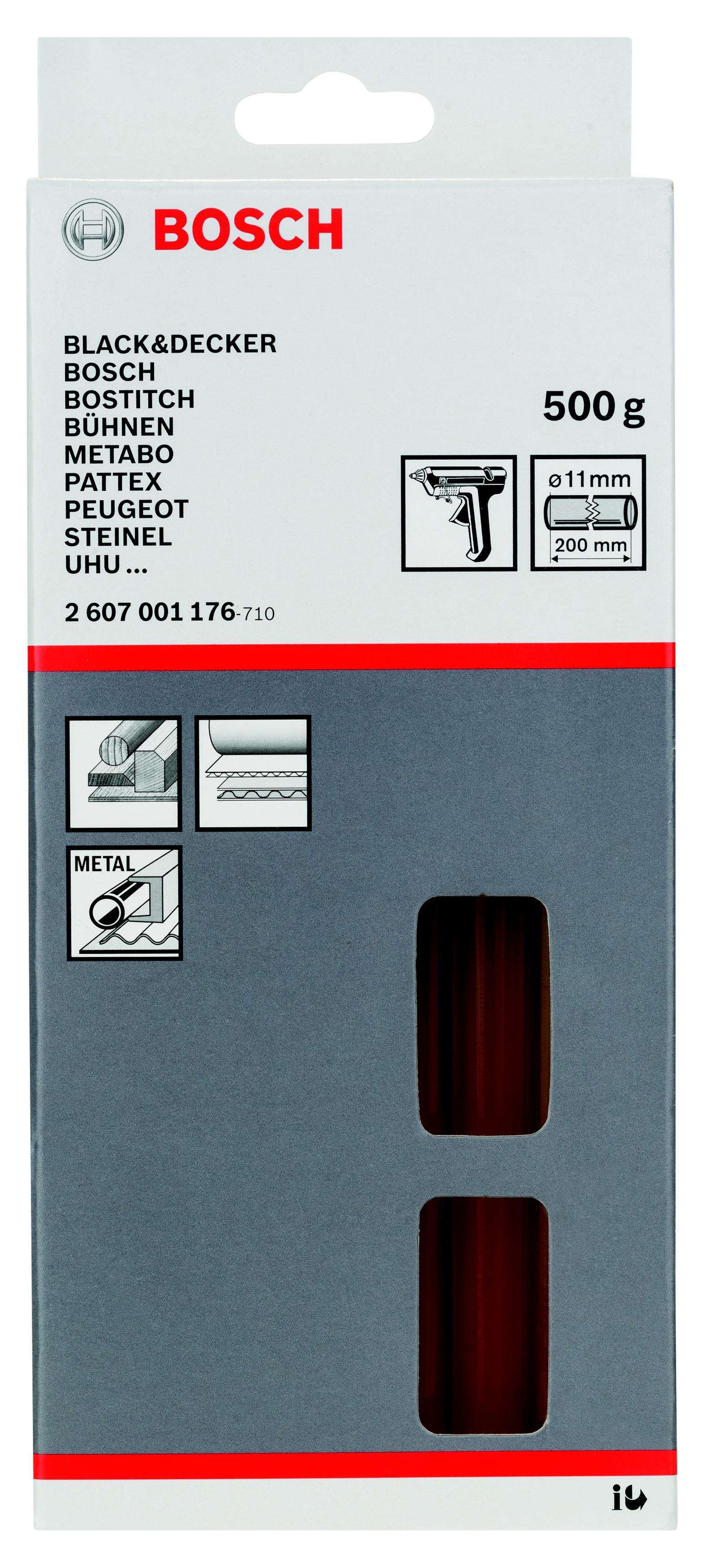 лучшая цена Стержень Bosch Ф11х200мм 25шт/упак (2607001176)