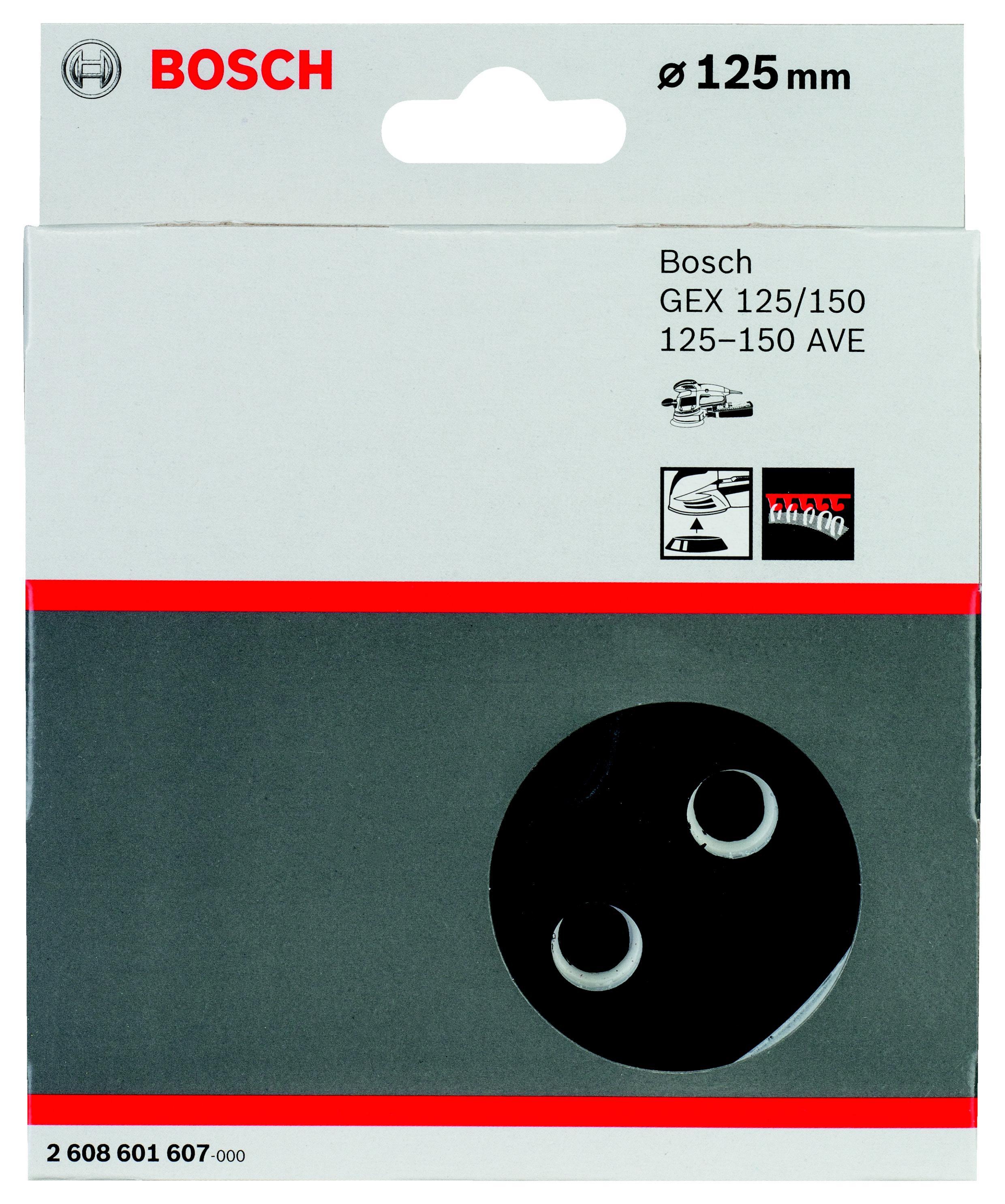 Подошва, основание, опора Bosch 2 608 601 607 125мм набор оснастки bosch premium set 49 2 608 p00 233