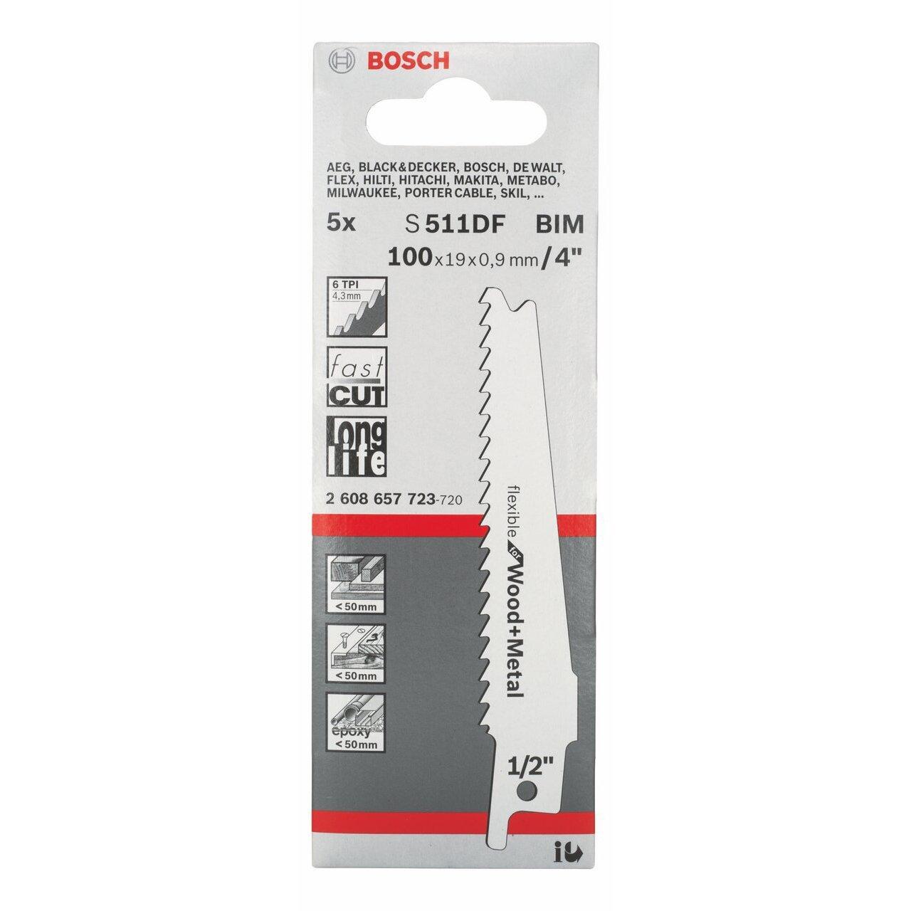 Полотно для сабельной пилы Bosch S511df (2.608.657.723)