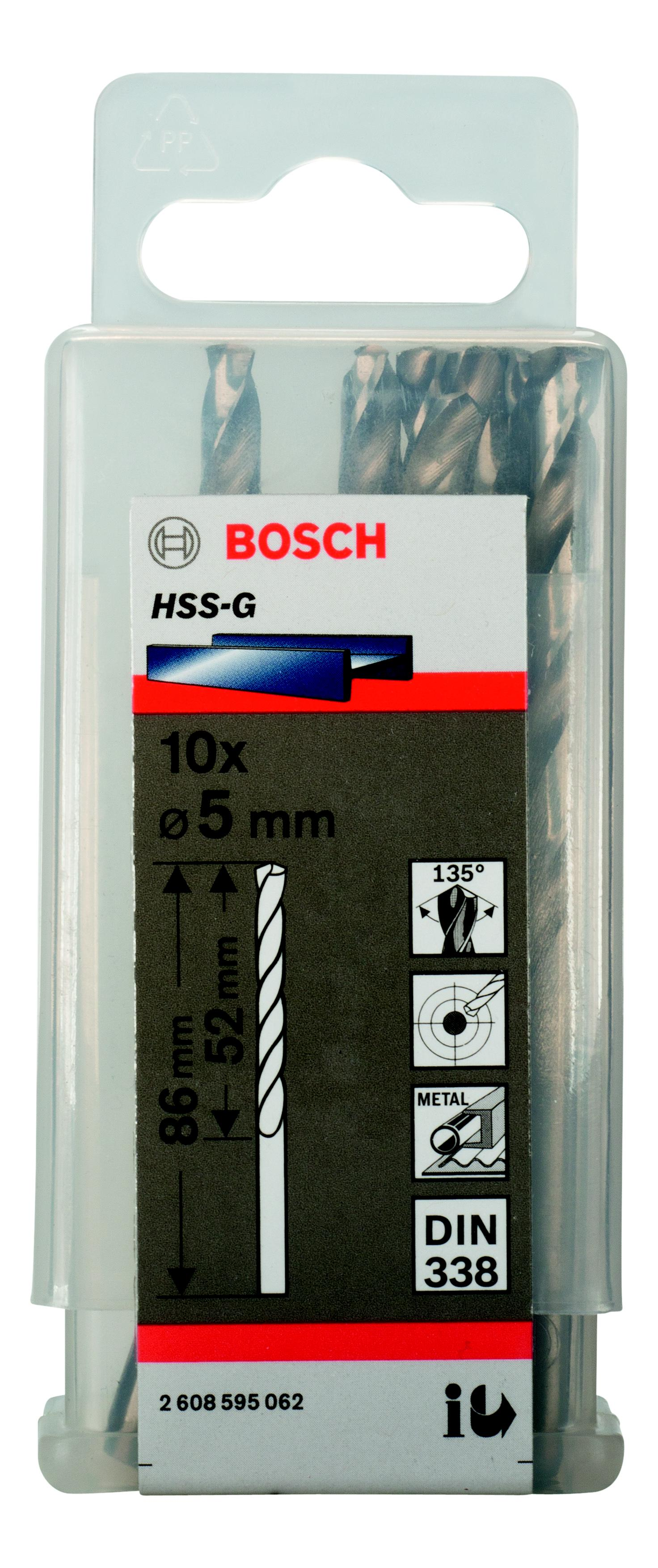 Сверло по металлу Bosch Ф5мм (2608595062)