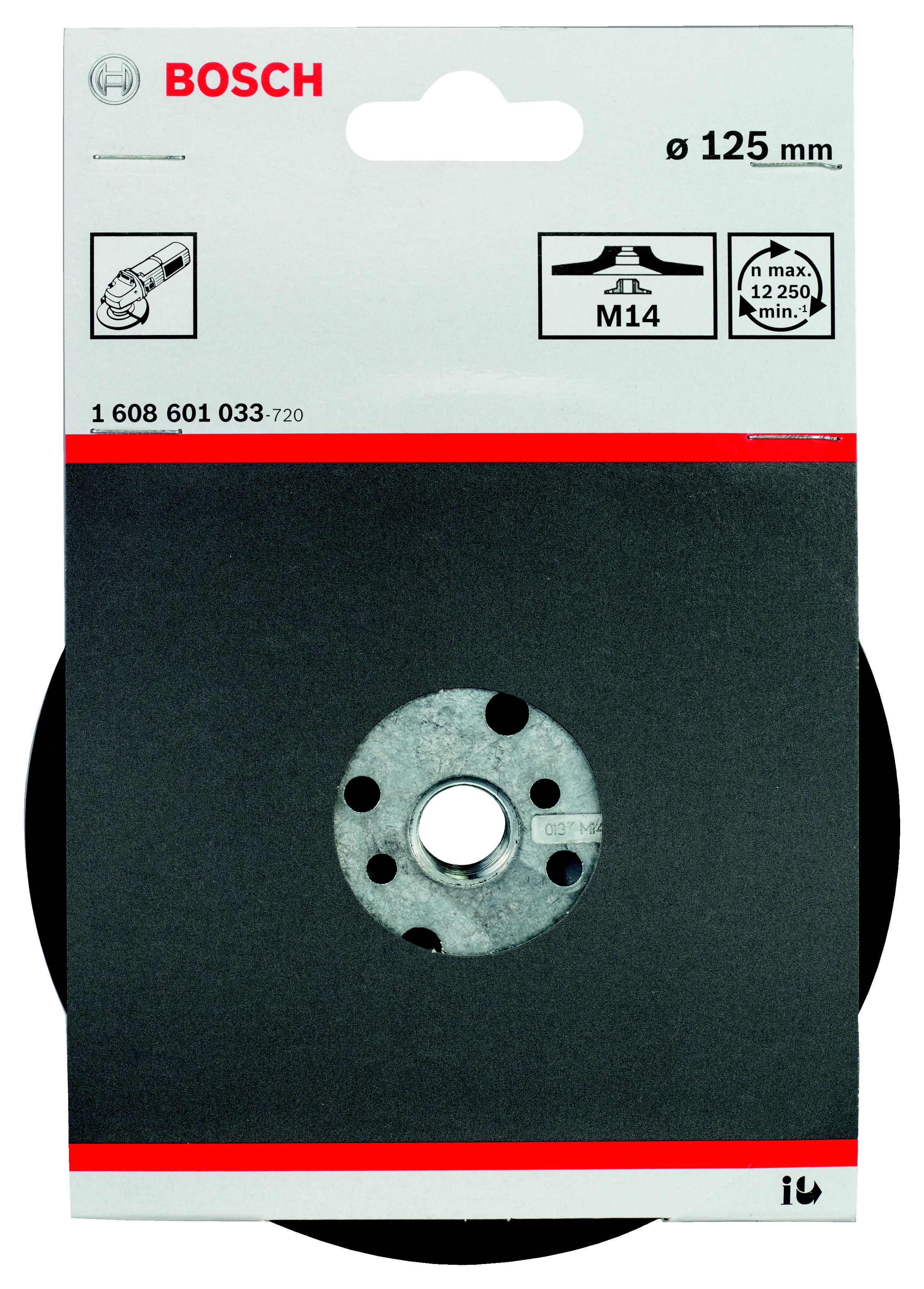 Тарелка опорная Bosch 1608601033 опорная тарелка multihole 125 мм мягкая bosch 2608601333