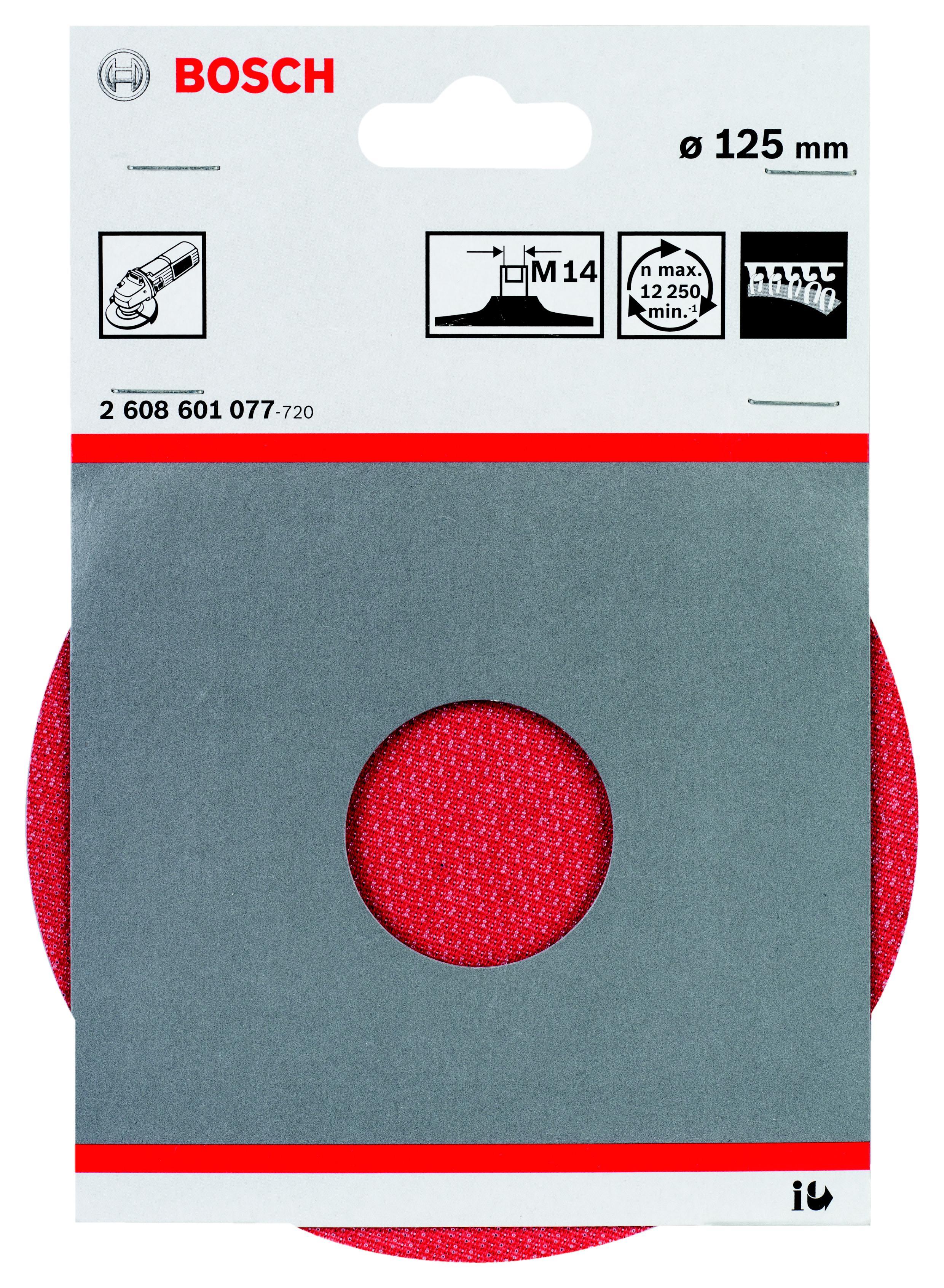Тарелка опорная Bosch 2608601077 опорная тарелка multihole 125 мм мягкая bosch 2608601333