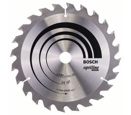 Диск пильный твердосплавный BOSCH Ф190х20мм 24зуб. (2608640612)