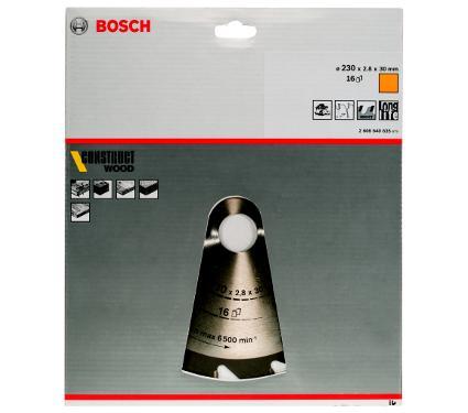 Диск пильный твердосплавный BOSCH Ф230х30мм 16зуб. (2608640635)