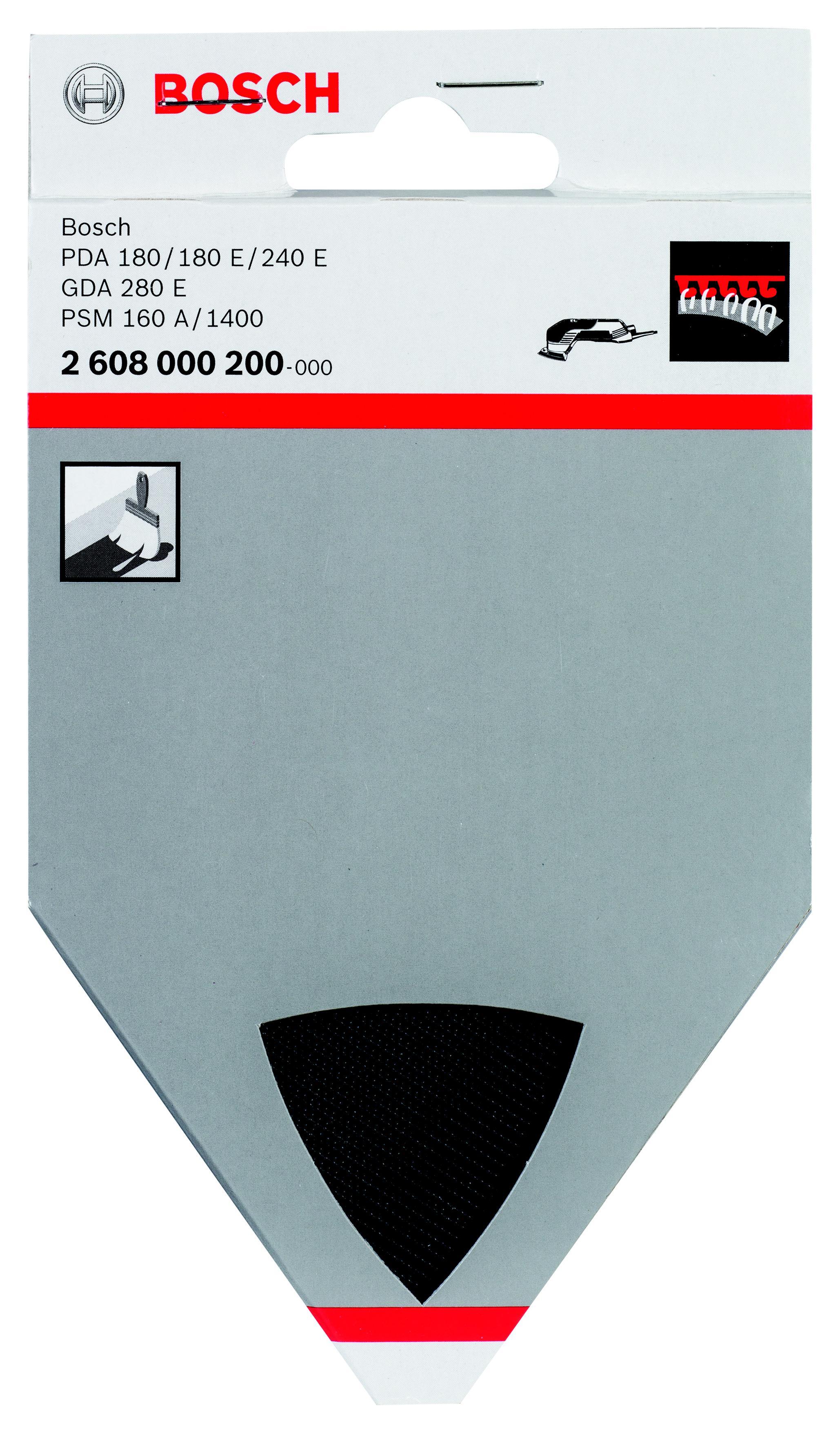 Подошва, основание, опора Bosch 2608000200 bosch из 10 шлифлистов для виброшлифмашин 2609256a86