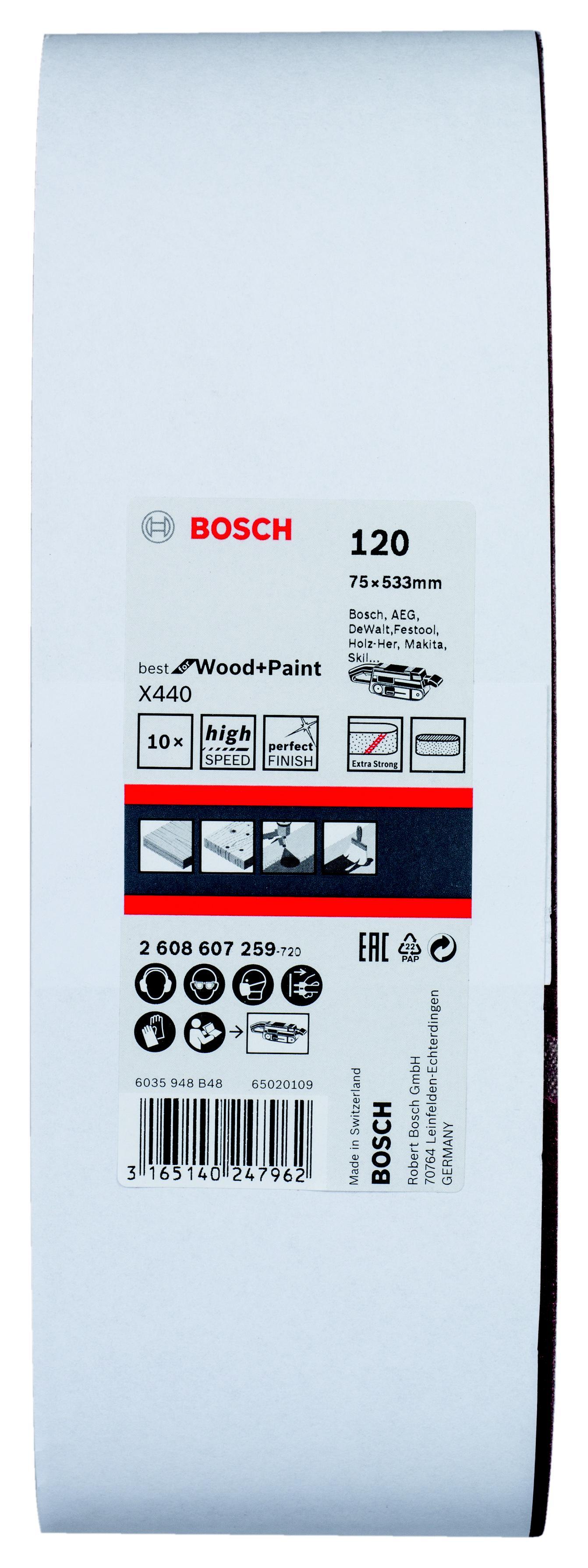 цена на Лента шлиф. бесконечная Bosch 75х533мм p120