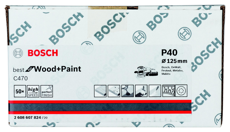 Лист шлифовальный Bosch 2608607824 декопир лист в хабаровске
