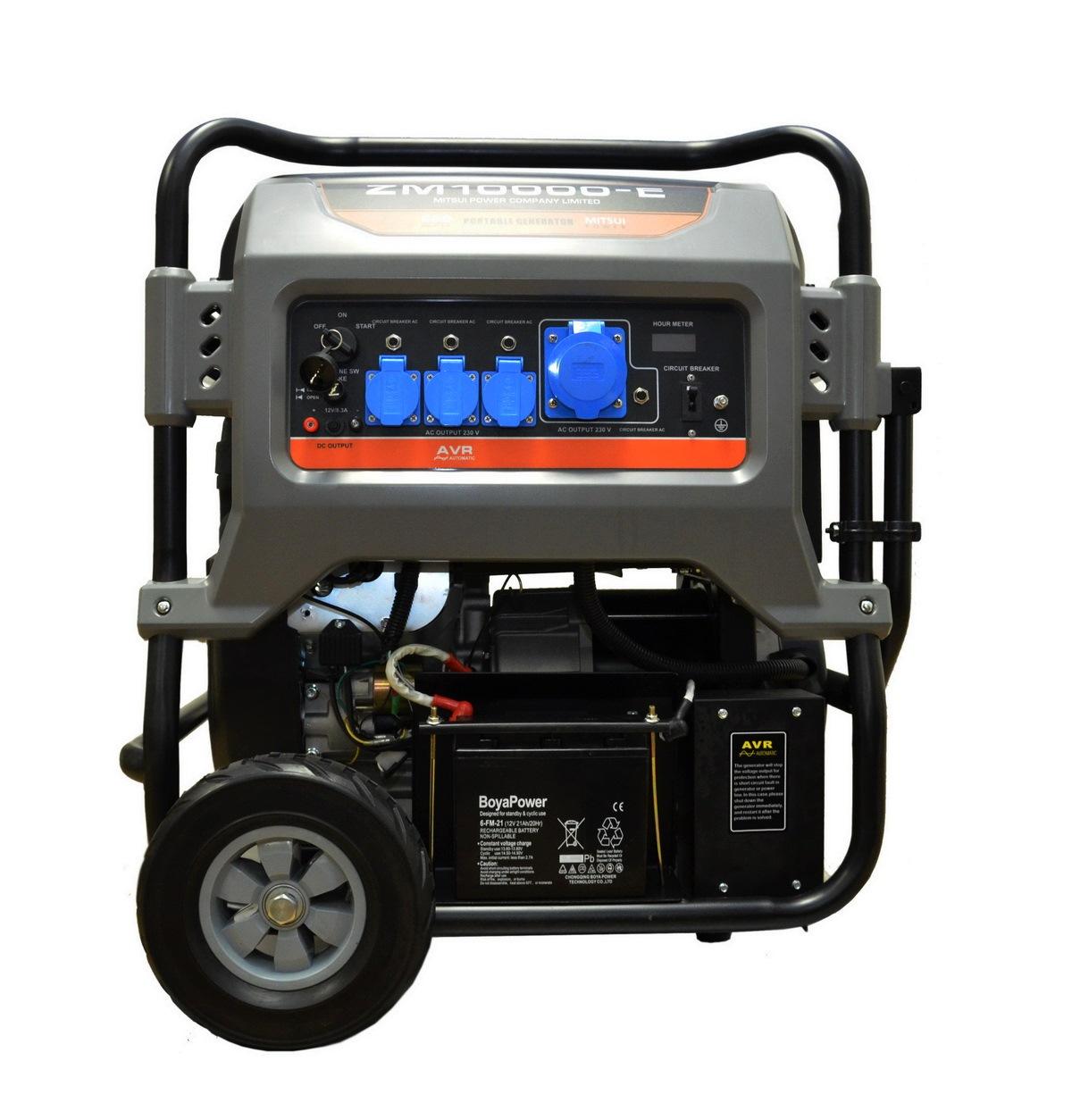 Бензиновый генератор Mitsui power Zm10000-e3 mitsui power eco zm10000е