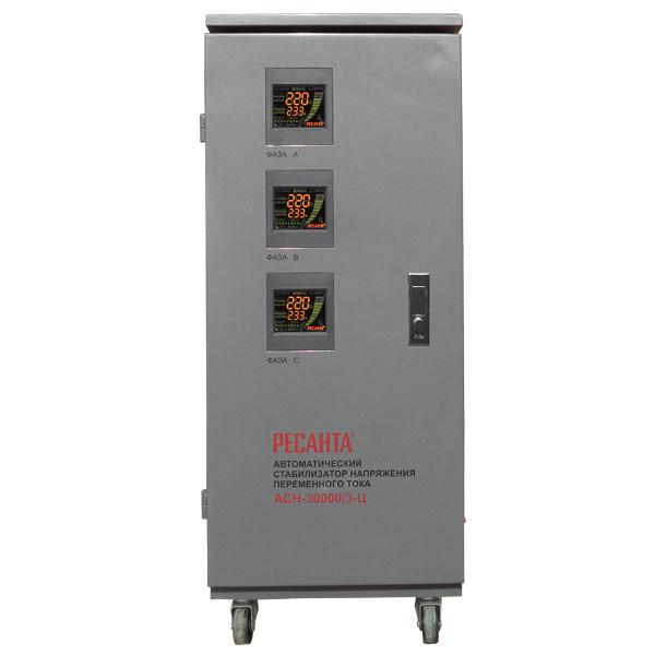 Стабилизатор напряжения РЕСАНТА АСН-30000/3-Ц ресанта асн 120001 ц релейный в москве