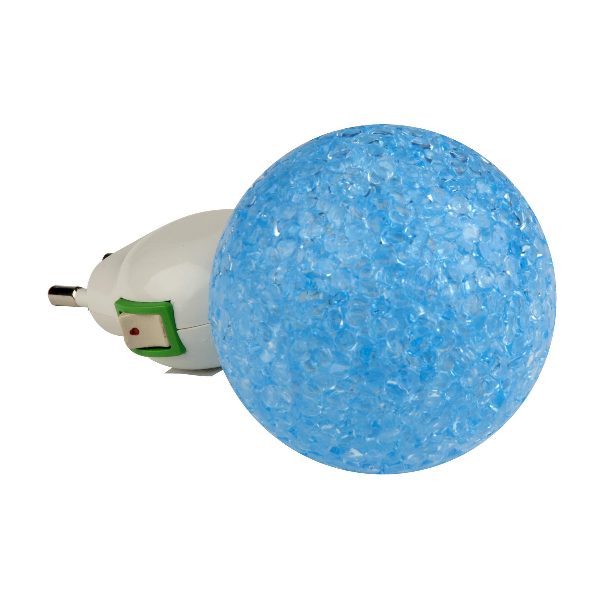 Ночник Uniel Dtl-309-Шар/blue/1led/0,1w