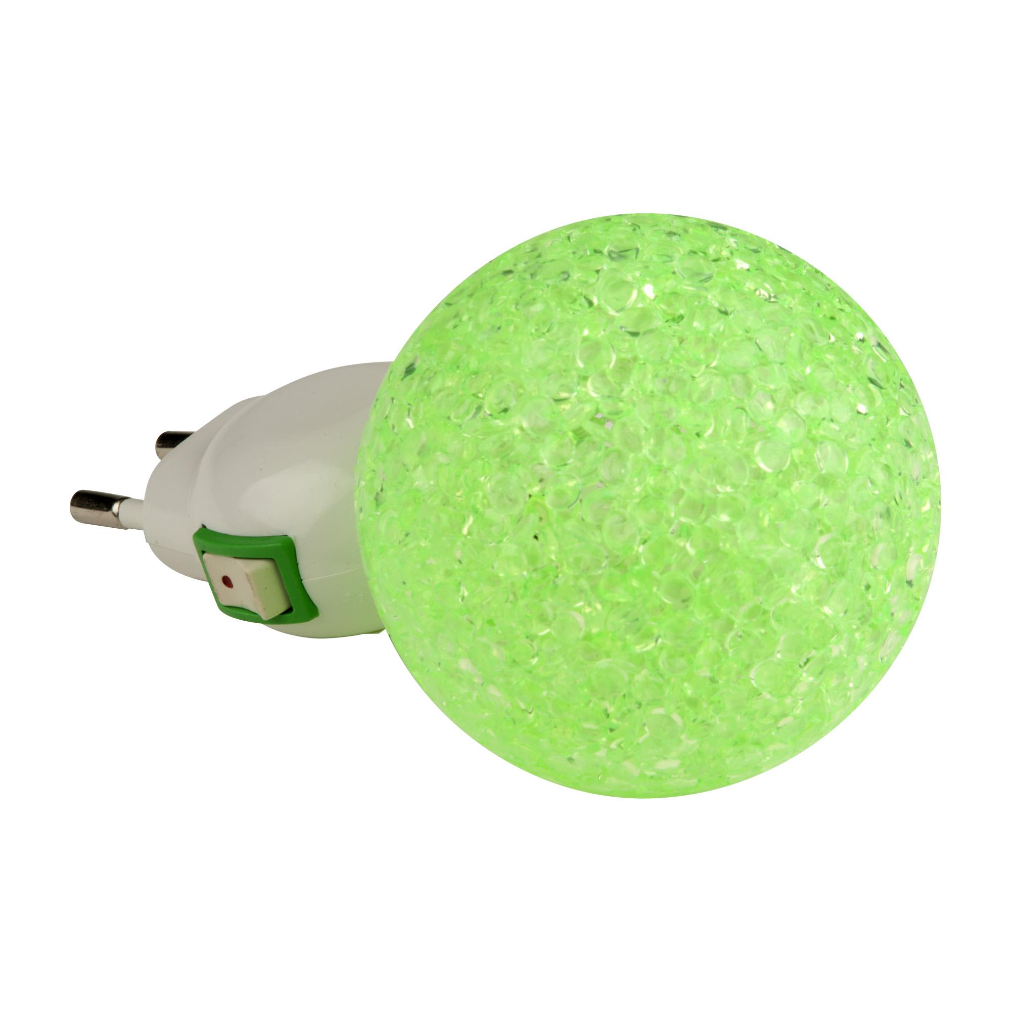 Ночник Uniel Dtl-309-Шар/green/1led/0,1w