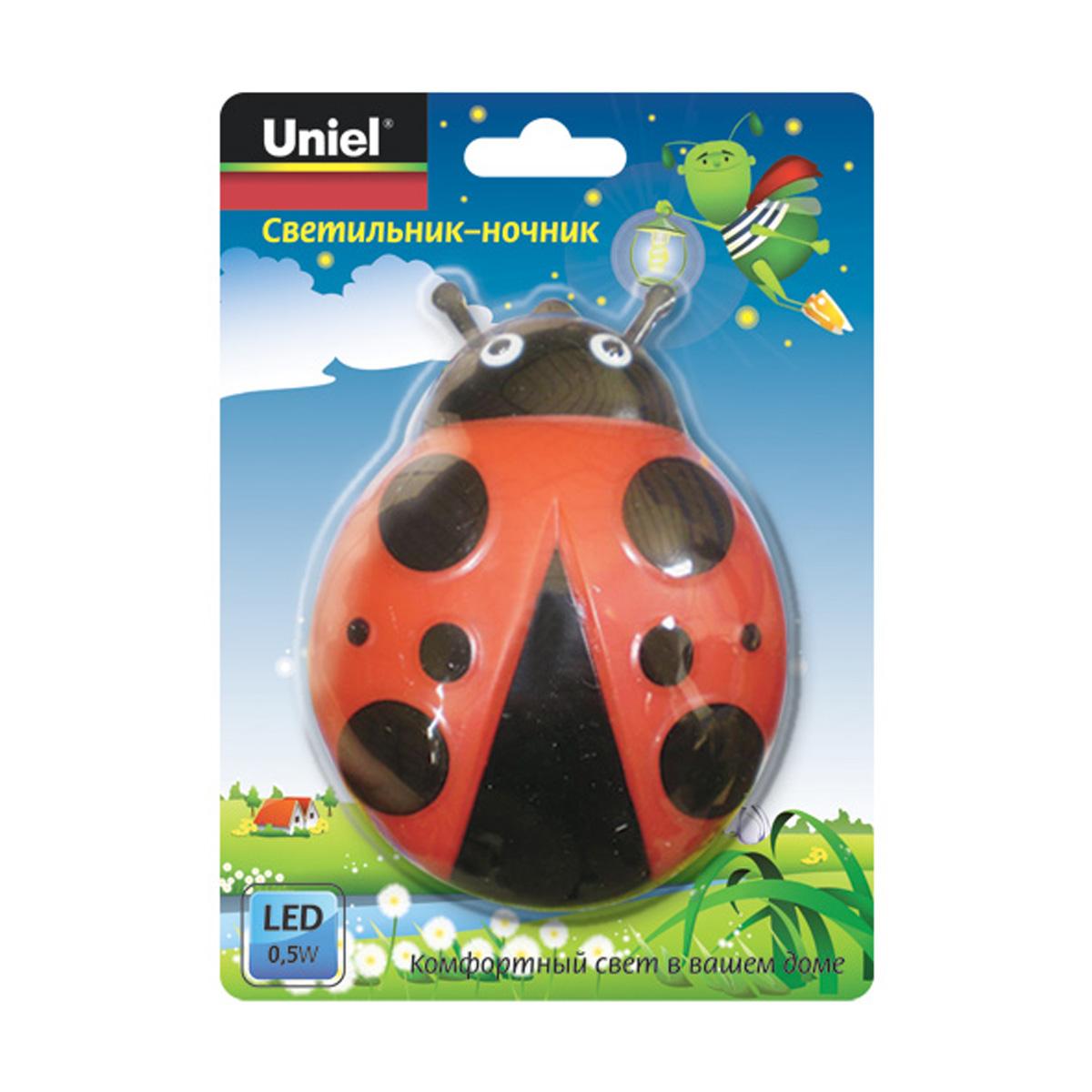 Ночник Uniel Dtl-301-Жук/red/3led/0,5w