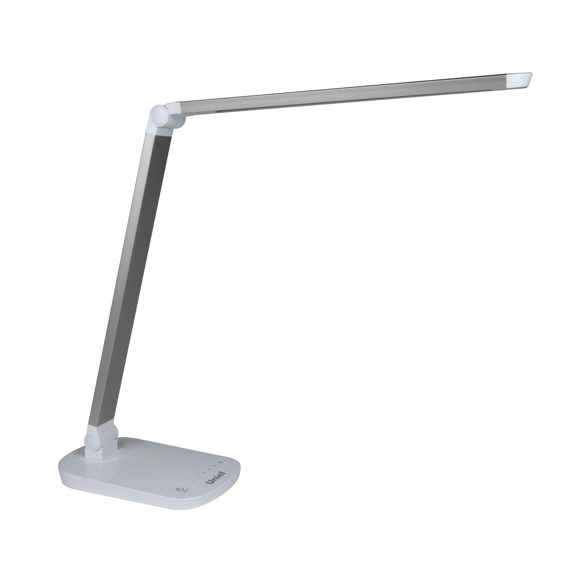 Лампа настольная Uniel Tld-521 silver/led/800lm/5000k/dimmer uniel настольная лампа uniel tld 521 blue led 800lm 5000k dimmer 10084