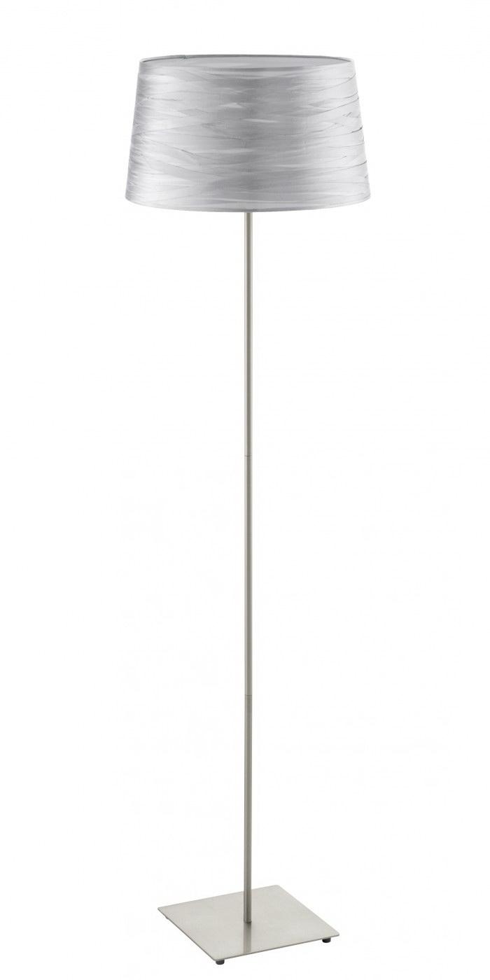 Торшер EgloТоршеры<br>Стиль светильника: классика,<br>Назначение светильника: для комнаты,<br>Материал светильника: металл, ткань,<br>Диаметр: 375,<br>Высота: 1445,<br>Количество ламп: 1,<br>Тип лампы: накаливания,<br>Мощность: 60,<br>Патрон: Е27,<br>Цвет арматуры: матовый никель,<br>Вес нетто: 2.177<br>