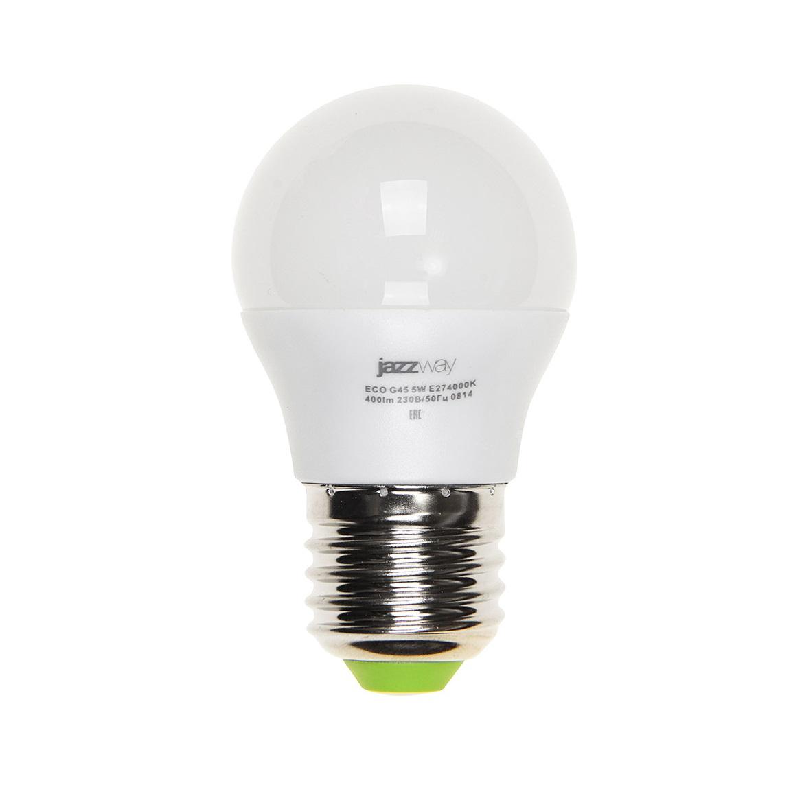 Лампа светодиодная Jazzway Pled-eco-g45 лампа настольная jazzway ptl 1128 blue