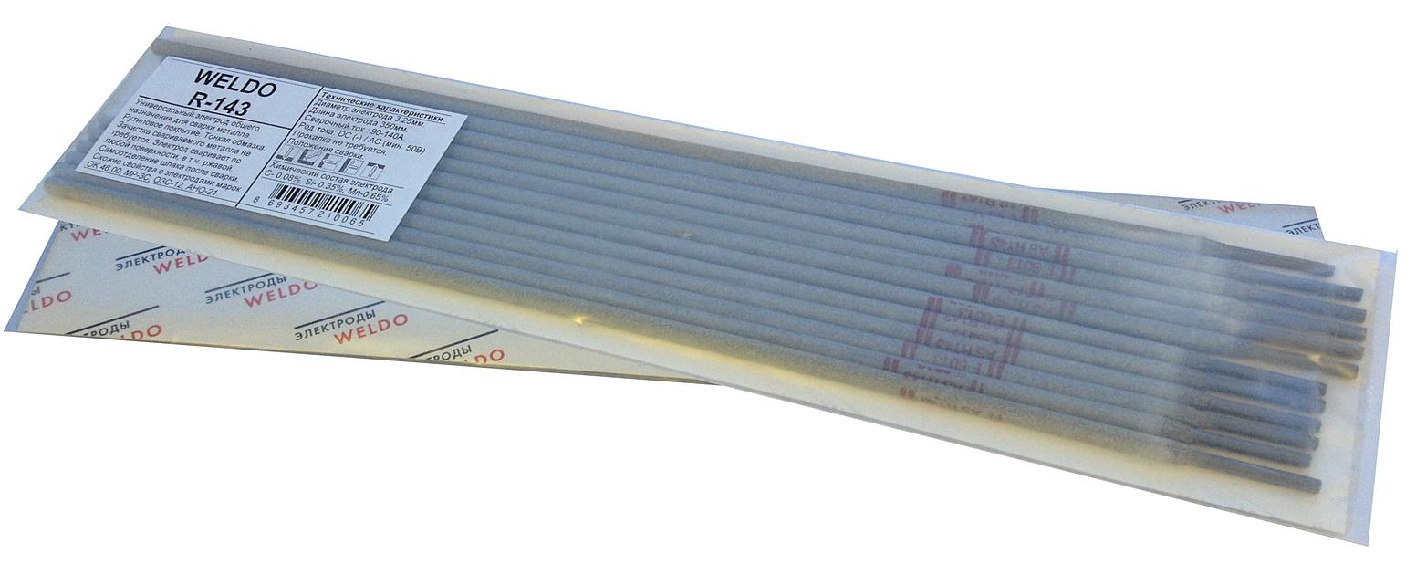 Электроды для сварки Weldo R-143 3.25мм электроды для сварки wester ано 4 3 0мм 1кг