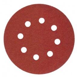 Круг шлиф. самосцепляющийся Makita 125мм p120 8отв. абразивный круг velcro dexter p120 8 отверстий d180 мм