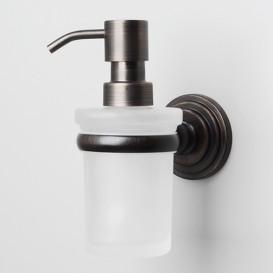 Диспенсер для жидкого мыла WasserkraftДиспенсеры<br>Назначение: для жидкого мыла,<br>Цвет покрытия: стекло матовое,<br>Материал: металл,<br>Способ крепления: на стол<br>