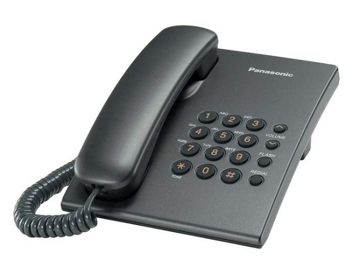 Проводной телефон Panasonic Kx-ts2350rut телефон panasonic kx dt546rub черный