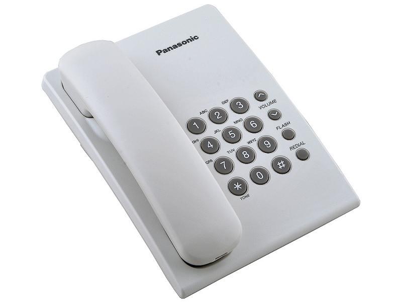 Проводной телефон Panasonic Kx-ts2350ruw проводной телефон panasonic kx ts2352rub черный