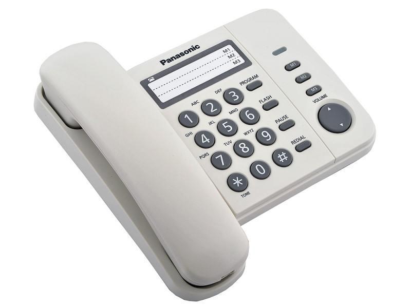 Проводной телефон Panasonic Kx-ts2352ruw проводной телефон panasonic kx ts2352rub черный