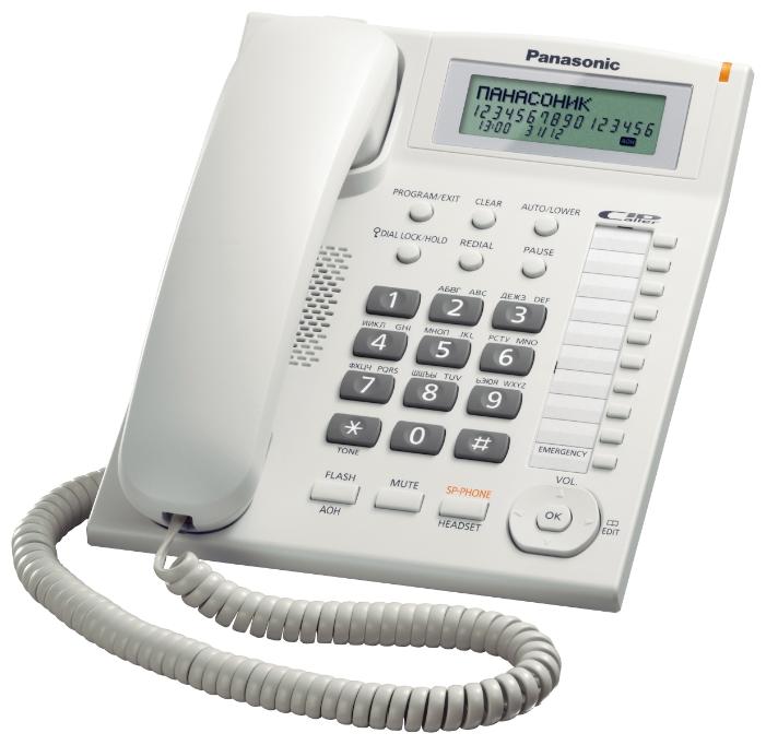 Проводной телефон Panasonic Kx-ts2388ruw проводной телефон panasonic kx ts2363 белый kx ts2363ruw