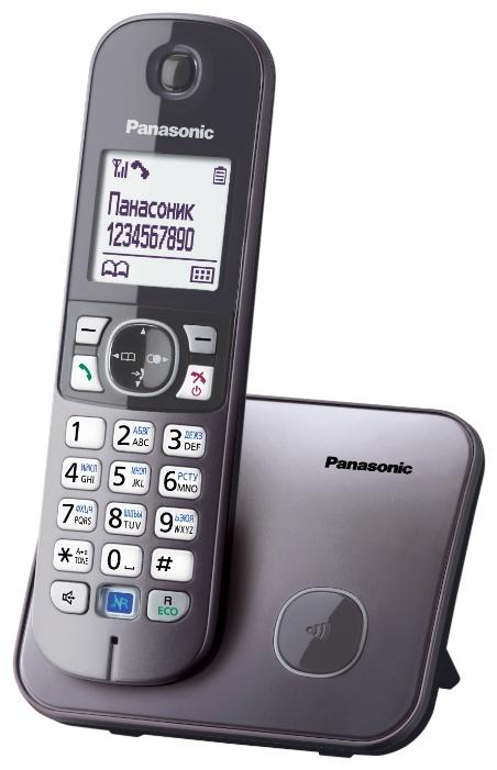 Радиотелефон Panasonic Kx-tg6811rum радиотелефон panasonic kx tg8551 черный kx tg 8551 rub