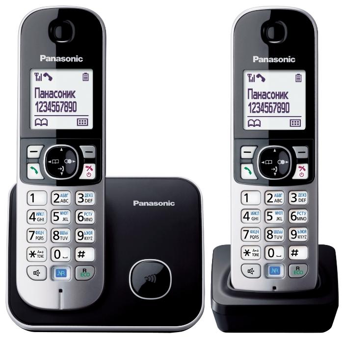 Радиотелефон Panasonic Kx-tg6812rub радиотелефон panasonic kx tg8551 черный kx tg 8551 rub