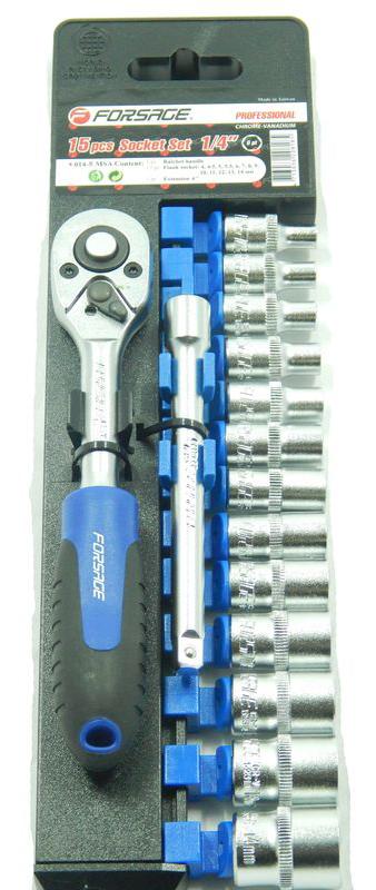 Набор головок Forsage 9672/014-5 msa набор инструментов универсальный forsage 27 предметов 027 5 msa