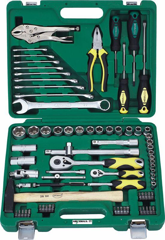 Набор инструментов универсальный АРСЕНАЛ Aa-c1412l77 набор инструментов арсенал 1920850 aa c1412l90