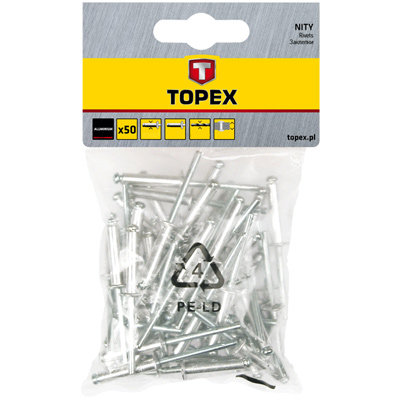Заклепка Topex 43e405 заклепки m4 4 1 мм 20 шт topex 43e124