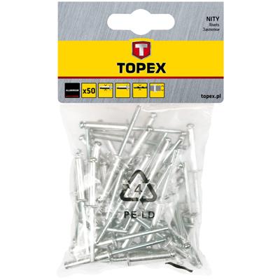 Заклепка Topex 43e401 заклепки m4 4 1 мм 20 шт topex 43e124
