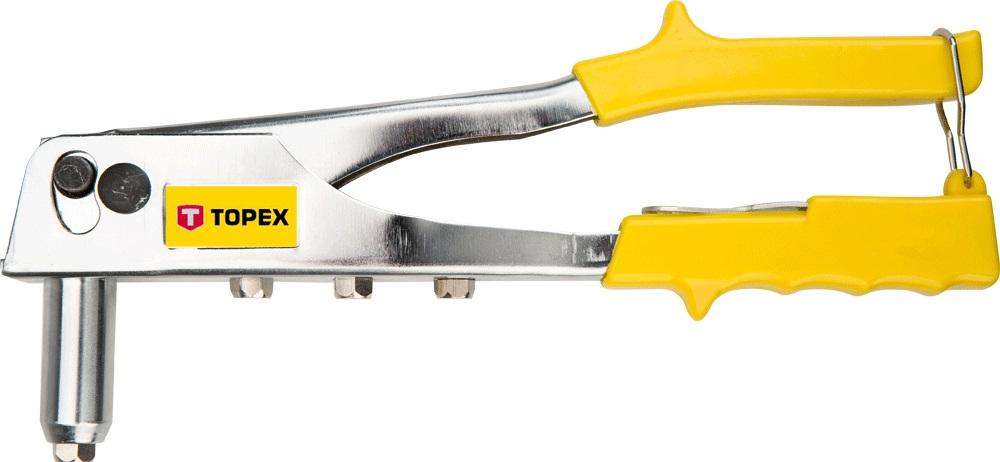 Заклепочник Topex 43e707 заклепочник усиленный topex 43e780