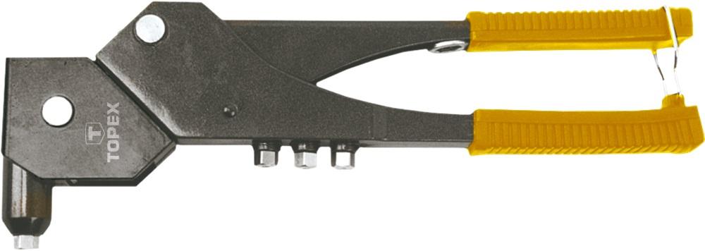 Заклепочник поворотный Topex 43e713 заклепки m4 4 1 мм 20 шт topex 43e124
