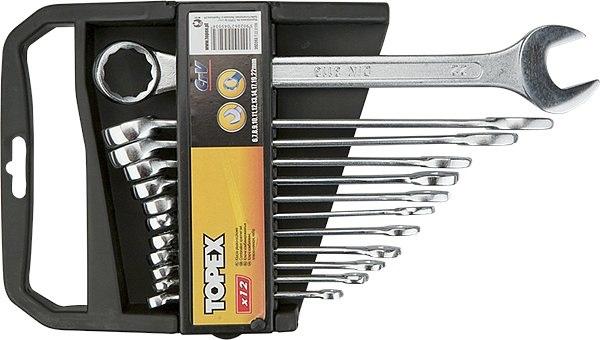 Набор гаечных ключей Topex 35d353 (6 - 22 мм) набор торцевых головок jonnesway 3 8dr 6 22 мм и комбинированных ключей 7 17 мм 36 предметов