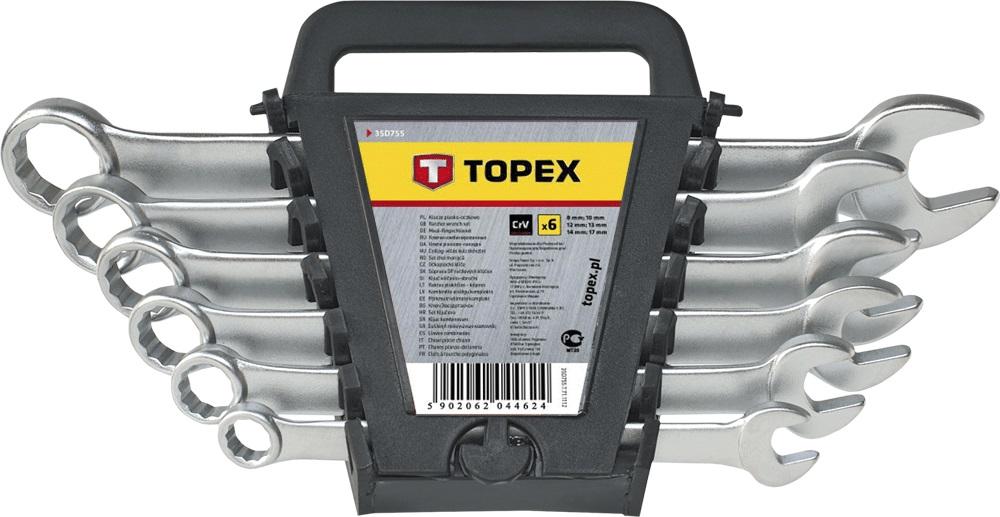 Набор гаечных ключей Topex 35d755 (8 - 17 мм)
