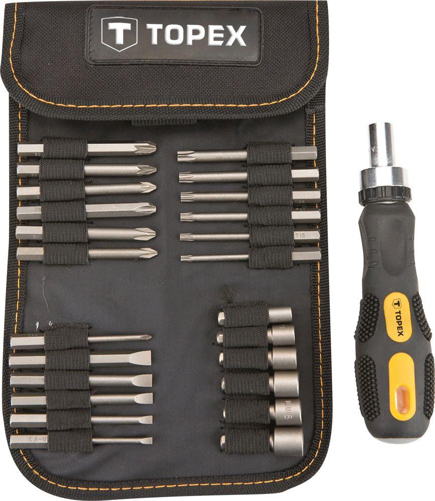 Набор головок Topex 39d352 набор стамесок topex 09a310