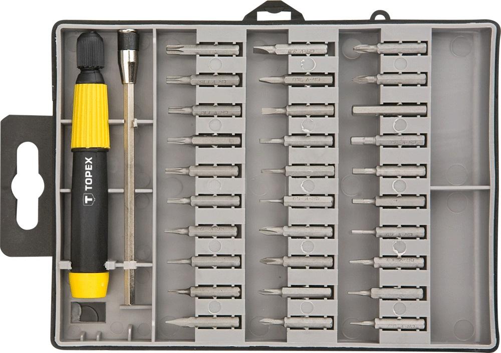 Набор бит Topex 39d555 набор стамесок topex 09a310