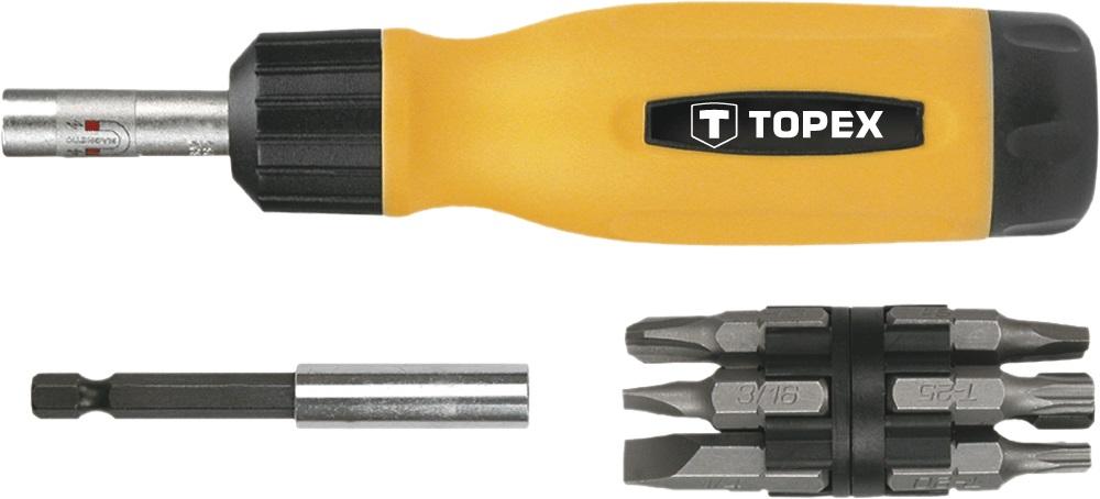 Набор бит Topex 39d518 набор стамесок topex 09a310