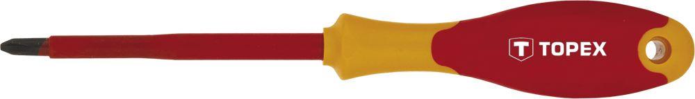 Отвертка крестовая Topex 39d477 отвертка крестовая topex 39d477