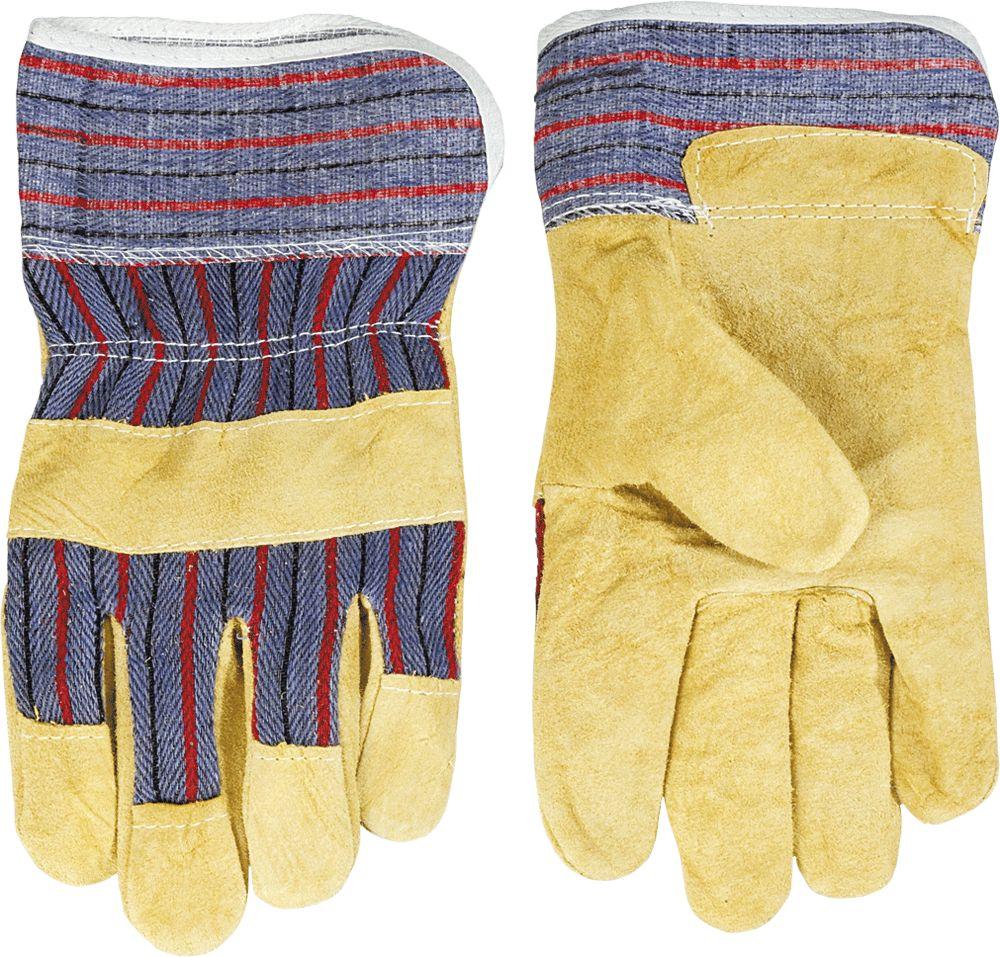 Перчатки спилковые Topex 83s110 перчатки newton per7 ангара люкс комбинированные спилковые