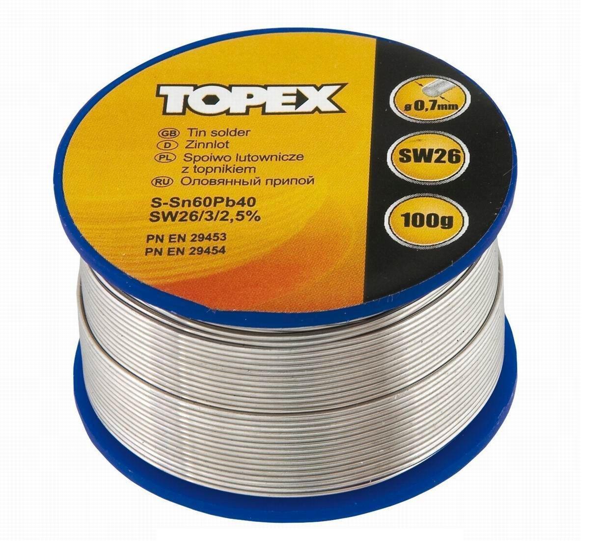 Припой Topex 44e522 заклепочник topex 43e707