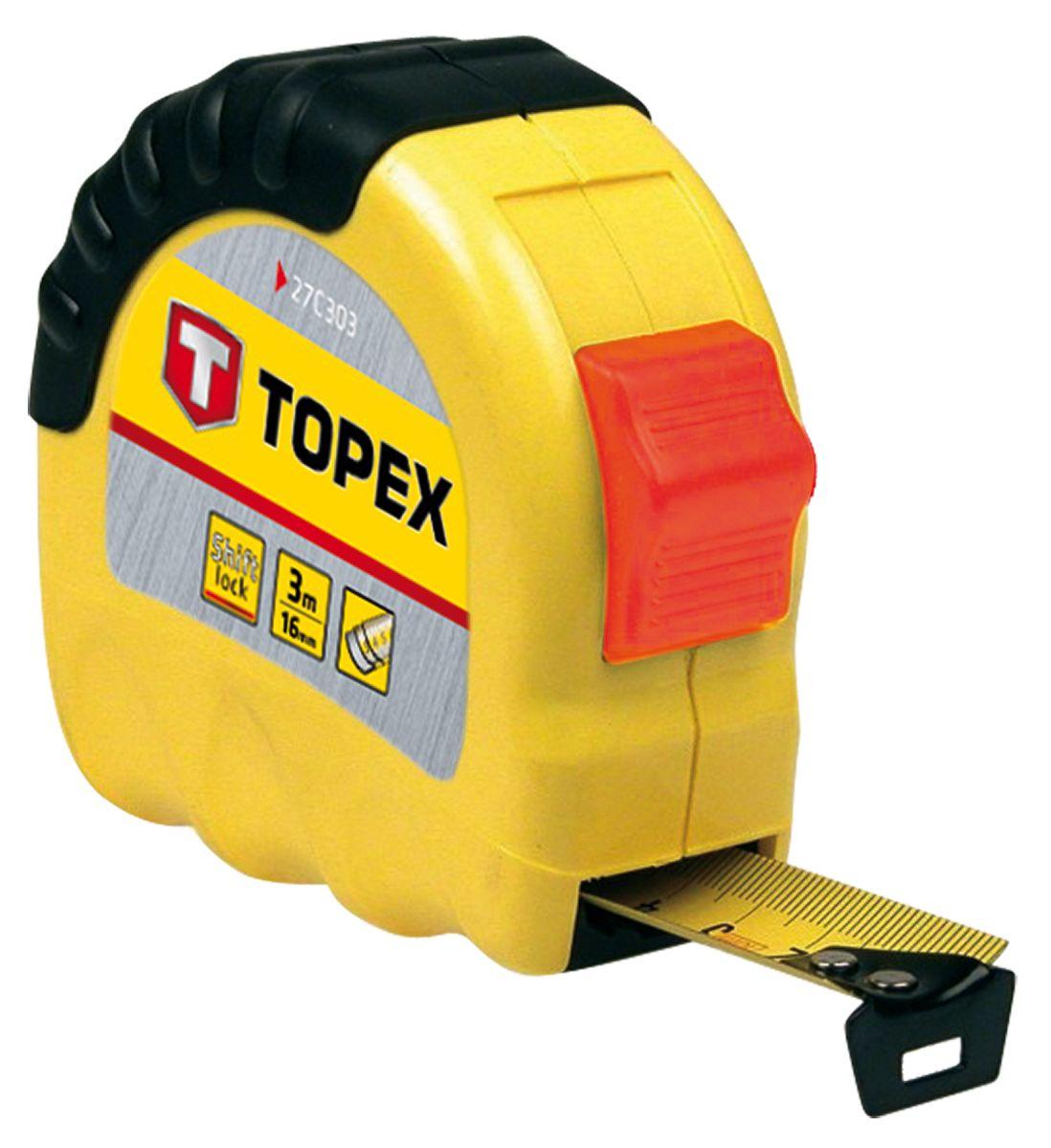 Рулетка Topex 27c303 стальная рулетка topex 27c387