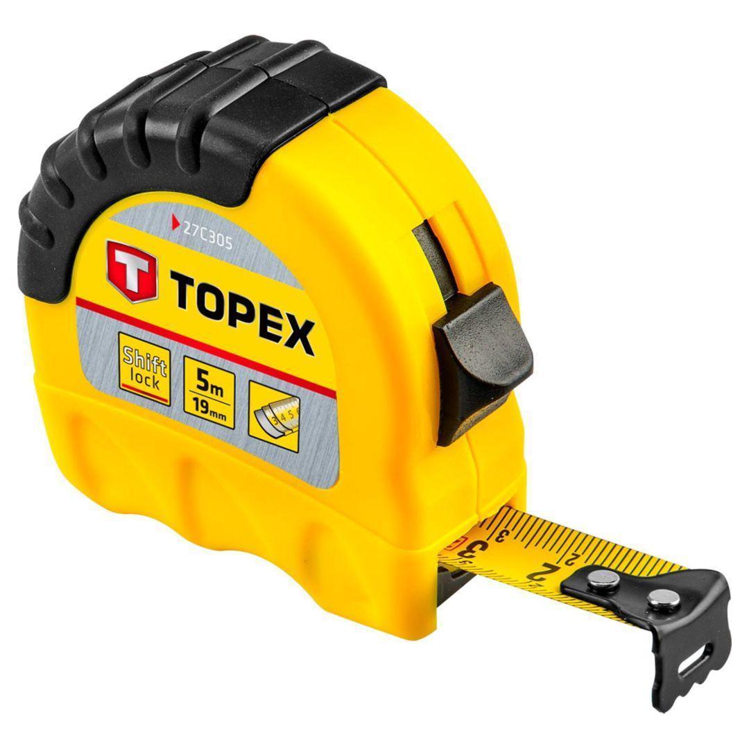 Рулетка Topex 27c305 стальная рулетка topex 27c387