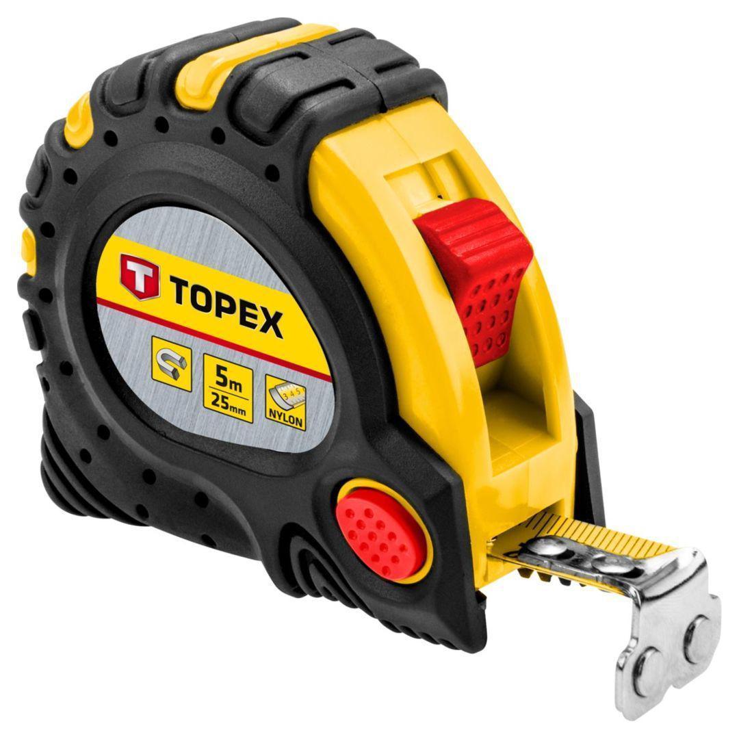 Рулетка Topex 27c345 стальная рулетка topex 27c387