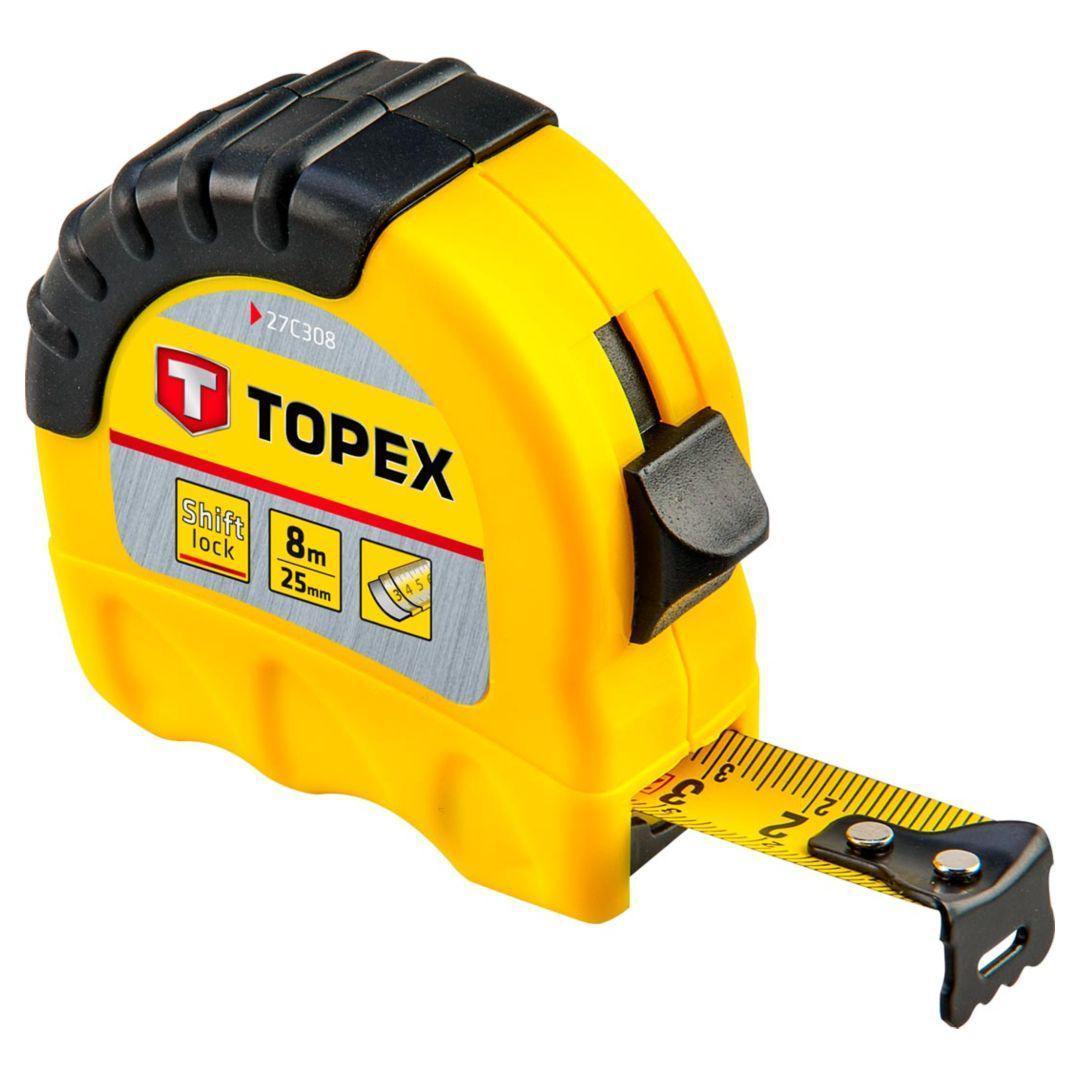 Рулетка Topex 27c308  стальная рулетка topex 27c387