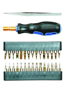 Отвертка с набором бит для точной работы Skrab 42626 набор бит практика diy 31 шт отвертка с трещеткой 2 мини отвертки 775 136