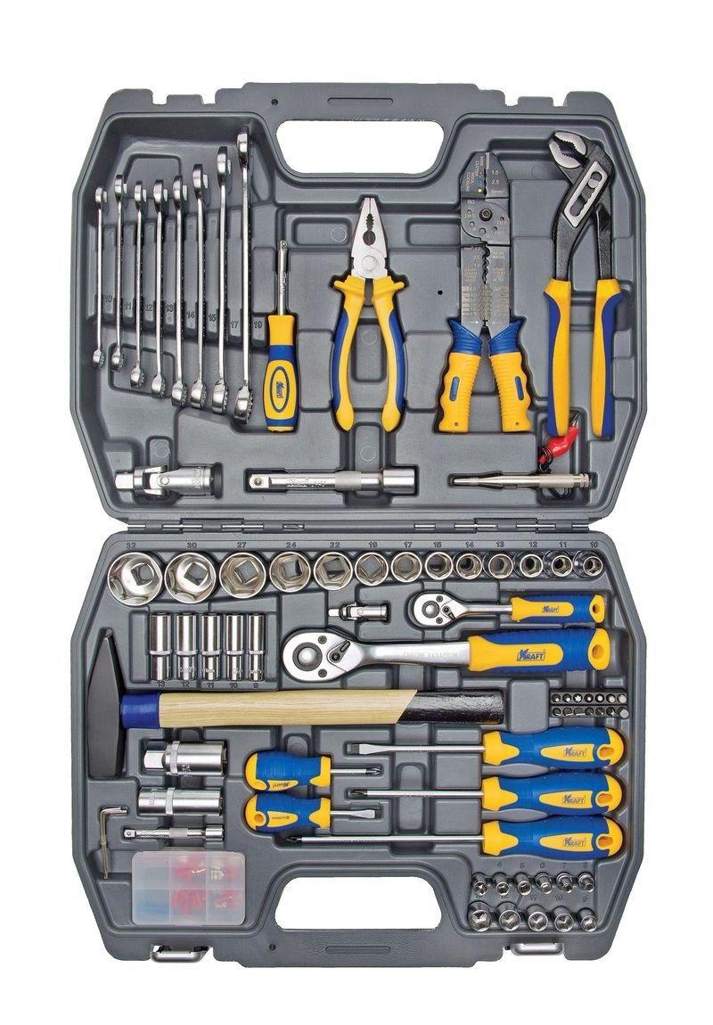 Набор инструментов универсальный Kraft КТ 700307 пассатижи kraft кт 700571