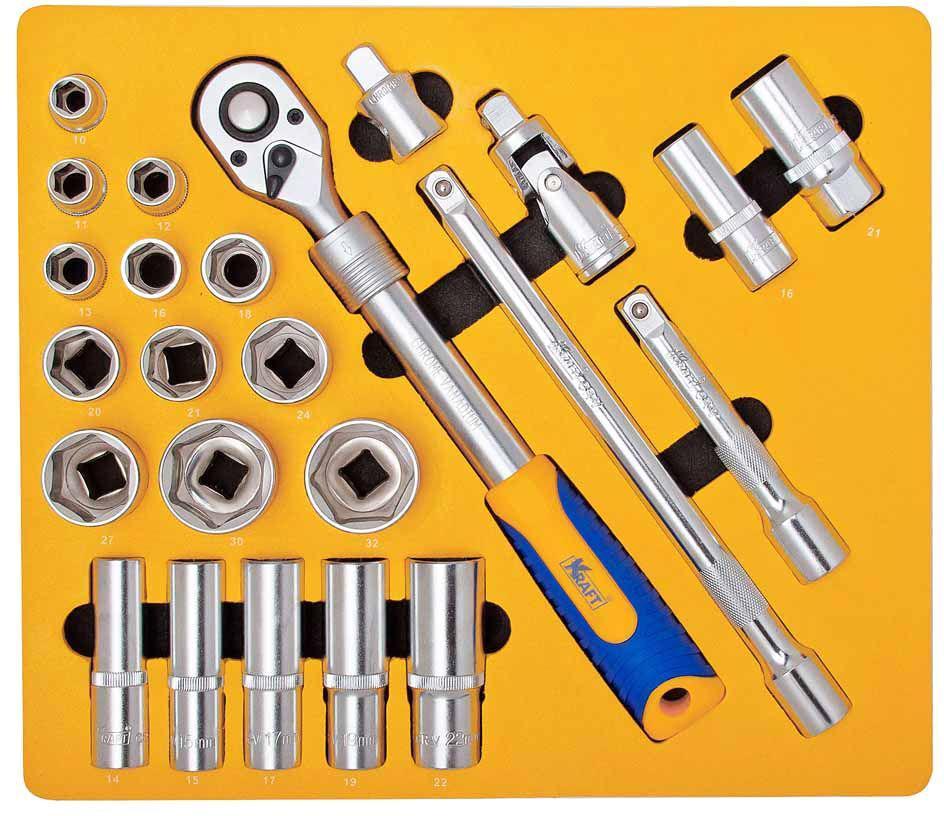 Набор инструментов Kraft КТ 700616 домкрат kraft кт 800026